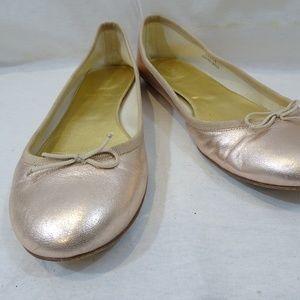 J CREW Rose Gold Ballet Flats Shoes Size 8.5